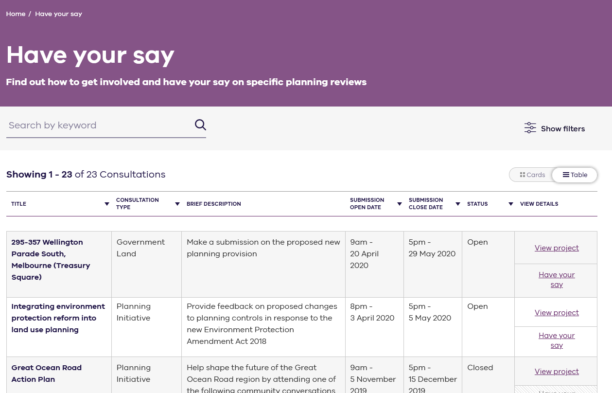Department of Environment, Land, Water and Planning Portal
